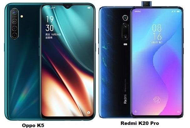 Oppo K5 Vs Xiaomi Redmi K20 Pro Specs Comparison