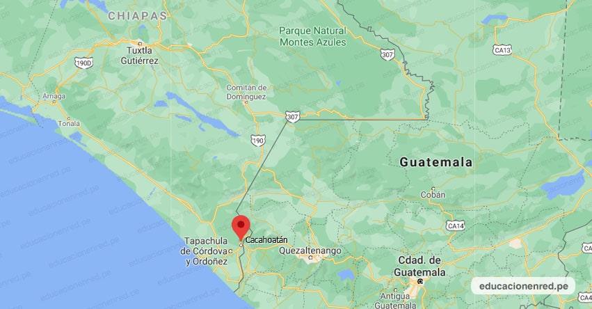 Temblor en México de Magnitud 4.4 (Hoy Jueves 16 Septiembre 2021) Sismo - Epicentro - Cacahoatán - Chiapas - CHIS. - SSN - www.ssn.unam.mx