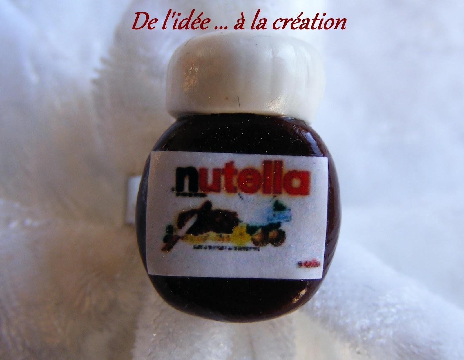 les bijoux gourmands de jocelyne bague petit pot de nutella. Black Bedroom Furniture Sets. Home Design Ideas