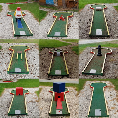 Crazy Golf course at Malkins Bank Golf Club in Sandbach (May 2019)