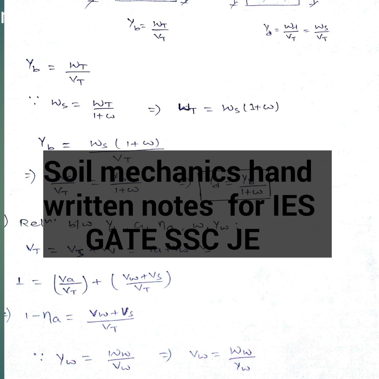 Soil mechanics handwritten notes