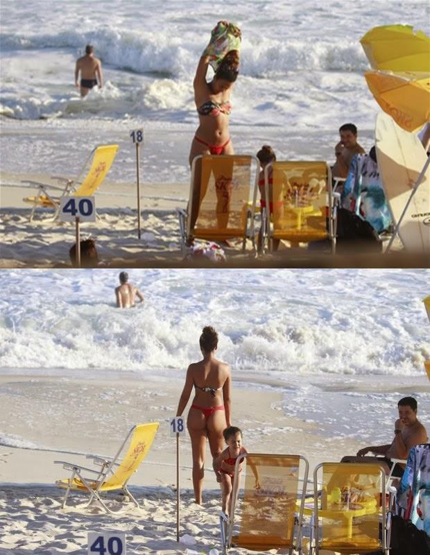 Sheron Menezes va a la playa