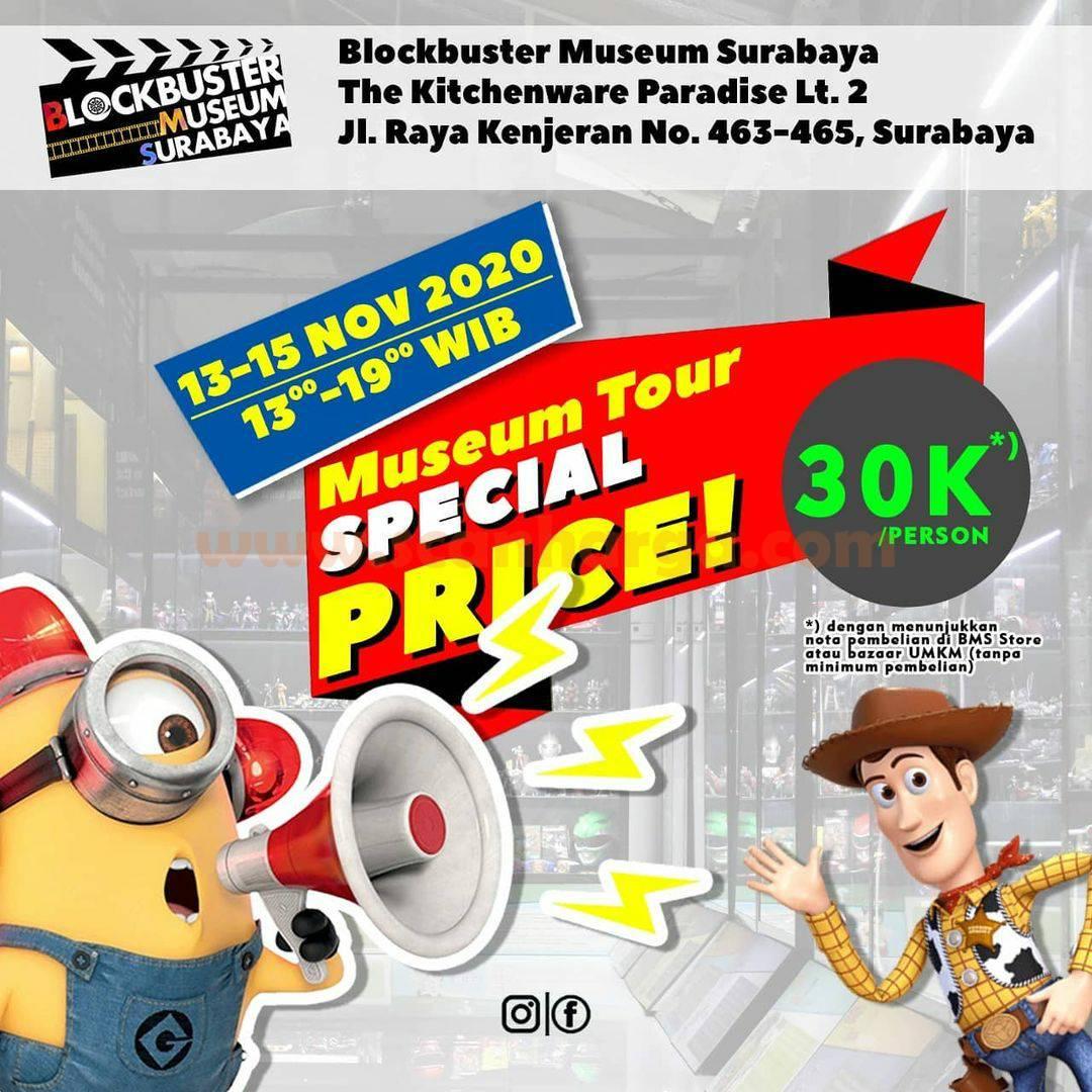 Blockbuster Museum Surabaya Present: Special Price Tiket Museum Tour BMS hanya Rp 30.000 per orang