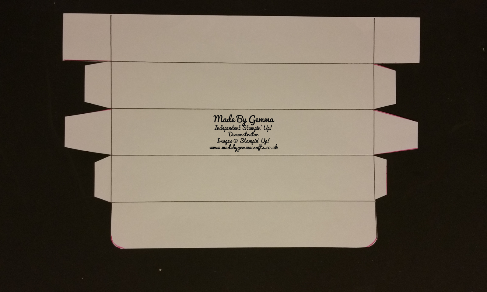 Made By Gemma Stampinup Gift Certificate Box