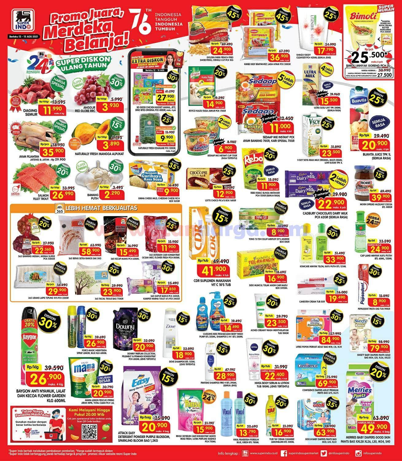 Katalog Promo Superindo Weekend Terbaru 13 - 15 Agustus 2021
