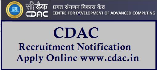 CDAC Recruitment Notification Apply Online www.cdac.in