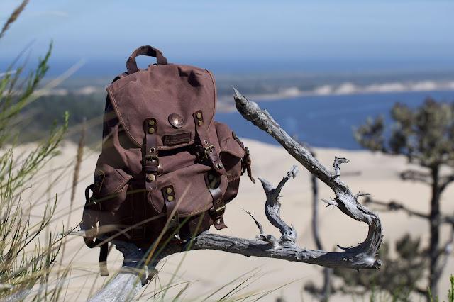 Punisher USMC Vintage Canvas Rucksack Backpack with Leather Straps