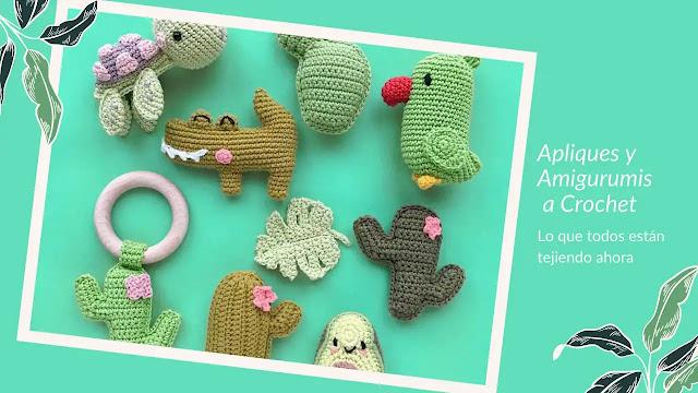 Apliques y Amigurumis a Crochet | Lo que todos están tejiendo ahora