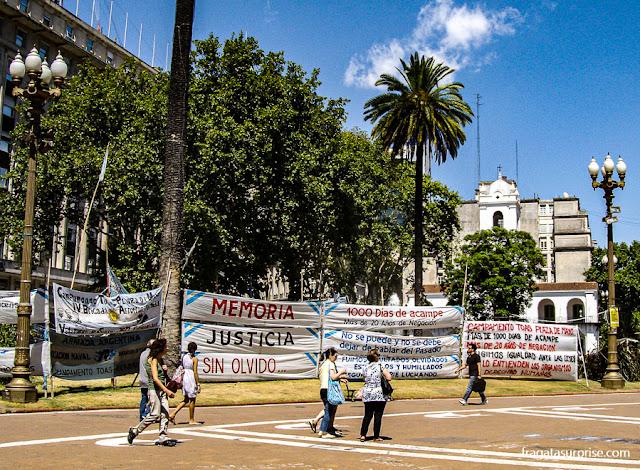 Praça de Maio e Cabildo de Buenos Aires