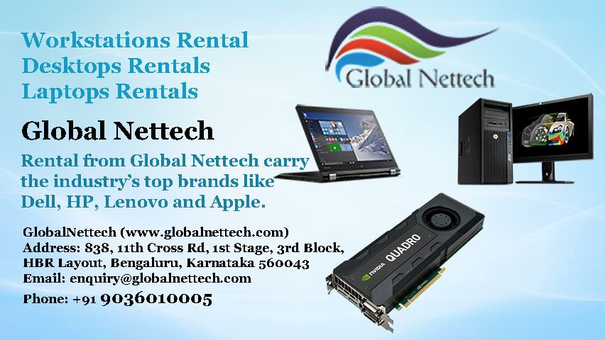 Laptop Workstation Rental | Desktop Workstation Rental | DELL | HP