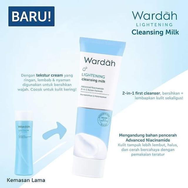 Cara Pakai Wardah Lightening Cleanser Milk kemasan baru