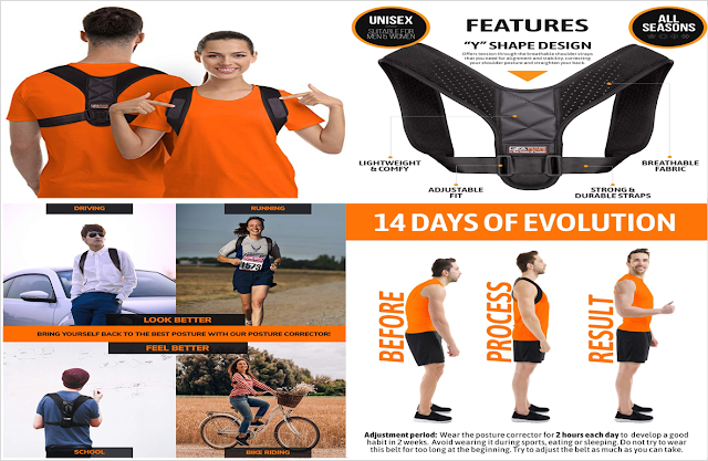 Posture Corrector For Men And Women by Gearari