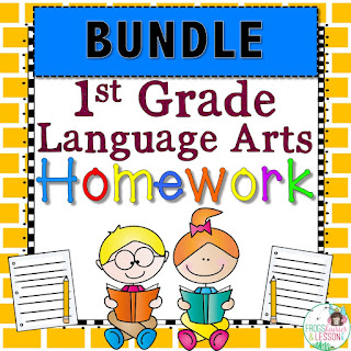 1st Grade Language Arts Spiral Review and Homework