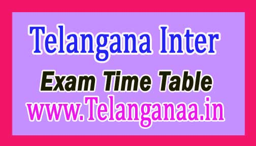 Telangana Intermediate 1st Year Time Table 2017 Download TS Inter 1st Year Exam Time Table