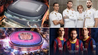 Spanish Football Clubs : Real Madrid & FC Barcelona