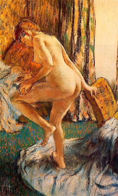 Эдгар Дега - После купания (1883)