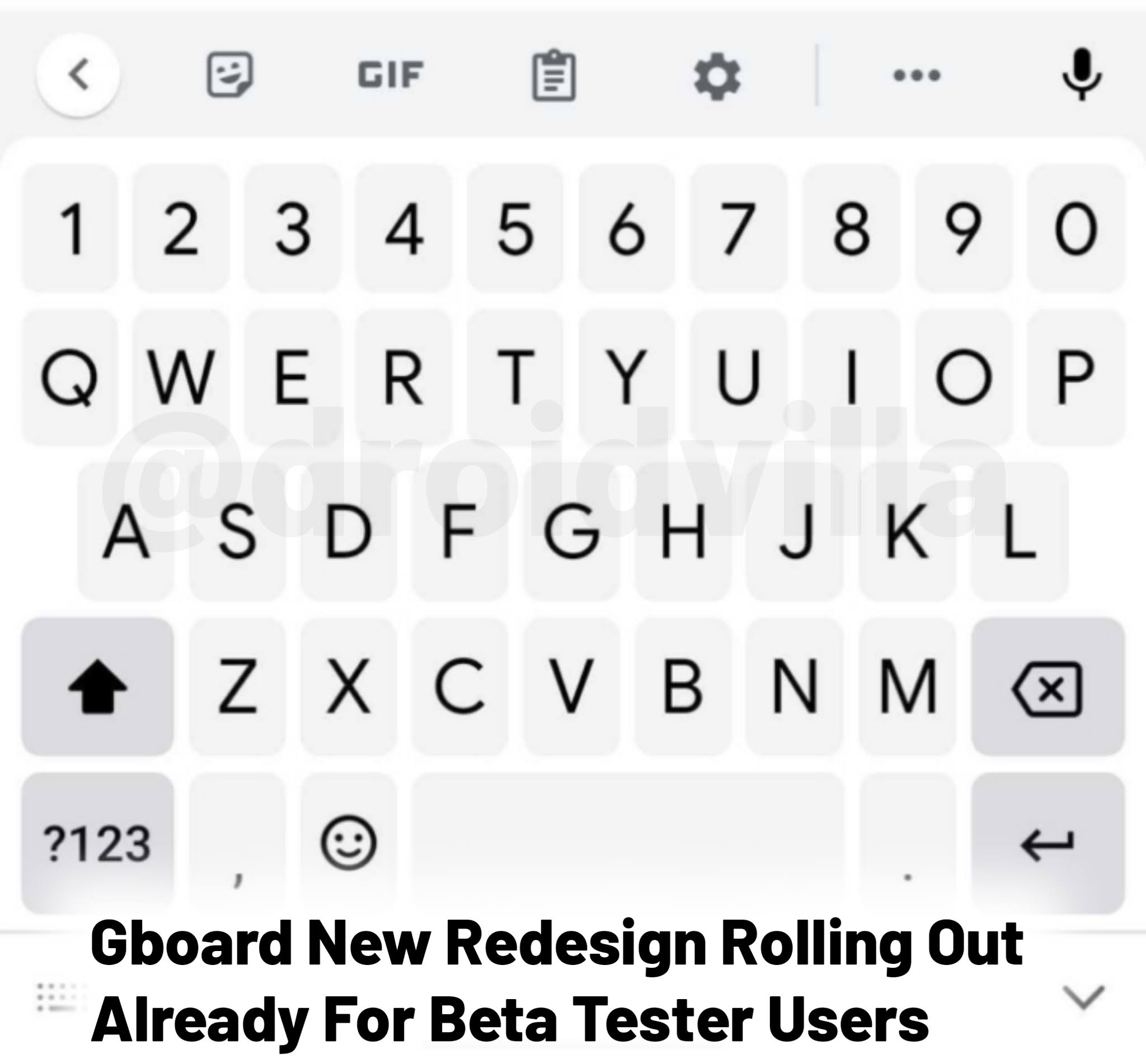 Gboard new redesign beta