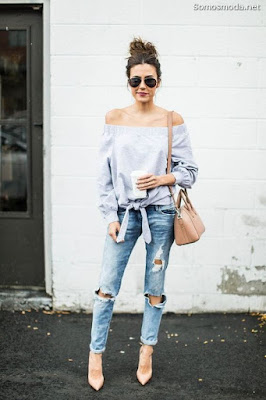Pantalones Rotos de Mujer