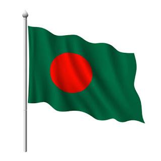 3d national flag of Bangladesh