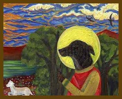 Святой Гинфорт (Saint Guinefort) — собака, жившая в XIII веке. Она почитается как местночтимый святой, не признанный официальной церковью. Поводом для причисления Гинфорта к лику святых стали чудеса, совершавшиеся на его могиле. Грейхаунд Гинфорт принадлежал одному рыцарю, жившему в замке в окрестностях Лиона. Однажды рыцарь отправился на охоту, оставив Гинфорта охранять своего маленького сына. Когда рыцарь вернулся с охоты и вошел в детскую комнату, то увидел, что в ней царит полный беспорядок — колыбель была перевернута, ребёнка нигде не было видно, а Гинфорт скалился на своего хозяина окровавленной пастью. Решив, что Гинфорт загрыз его сына, рыцарь в ярости убил собаку. И вдруг он услышал детский плач. Рыцарь перевернул колыбель и увидел своего сына, лежащего под ней, целого и невредимого, а рядом с ним — мертвую гадюку. Оказалось, что Гинфорт убил змею, вползшую в детскую комнату, и спас ребёнка. Поняв свою ошибку, рыцарь и вся его семья с почестями похоронили собаку, воздвигнув на могиле Гинфорта камень и посадив вокруг места погребения деревья, устроив для Гинфорта склеп. Вскоре местные жители признали Гинфорта святым, заметив, что он покровительствует младенцам. Католические богословы, встревоженные почитанием собаки как святого, обвиняли почитателей этого культа в принесении младенцев в жертву Гинфорту на его могиле.    Почитание Гинфорта как святого сохранялось в течение нескольких веков до 1930 года, несмотря на неоднократные запреты со стороны Католической Церкви. В 1987 году на экраны вышла французская кинолента fr:Le Moine et la sorcière («Монах и колдунья»), сюжет которой отображал споры вокруг Святого Гинфорта, увиденные глазами брата Этьена де Бурбона, доминиканца-инквизитора. Легенда о Святом Гинфорте стала одним из источников повести Кита Донахью «Похищенное дитя» (2006). Главный герой трилогии Бернарда Корнуэлла «Арлекин», «Скиталец», «Еретик» — Томас из Хуктона — до определенного момента полушутя-полусерьезно почитает Святого Гинфорта, молится ем