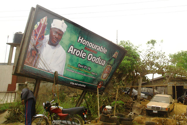 a beer brand celebrating the new Ooni of Ife