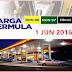 Harga Minyak Petrol Dan Diesel Terkini Bulan Jun 2016