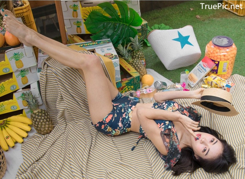 Image-An-Seo-Rin-Flower-and-Butterfly-Bikini-Korean-Model-Fashion-TruePic.net- Picture-2