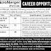 Micro Merger (Pvt) Ltd. Khyber Pakhtunkhwa- FATA Jobs