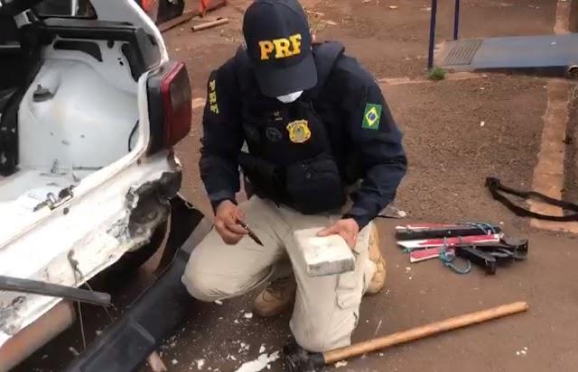 Jataí: Carga milionária de droga é apreendida na BR-060 sendo transportada por um casal
