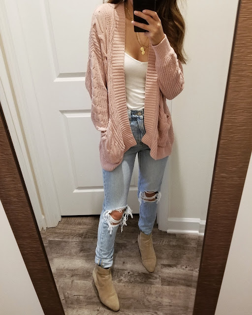 american eagle chenile cable knit cardigan