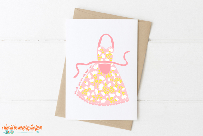 Mother's Day Apron Card
