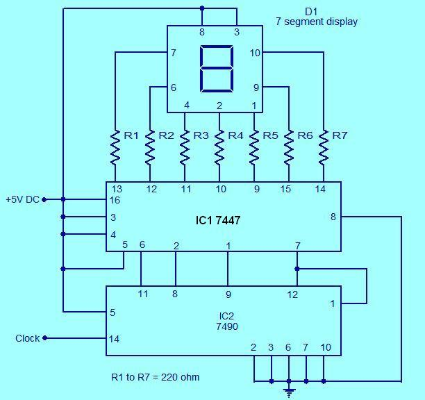 0 to 9 counter circuit | crazy proteus 0 9 counter circuit diagram #12