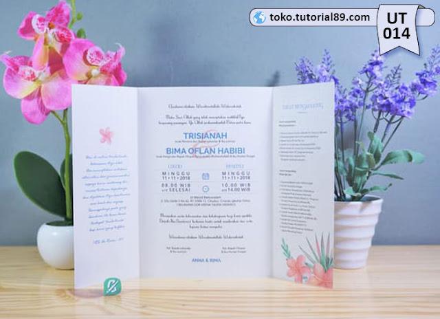 Undangan pernikahan UT014 - Lipat Tiga Potrait