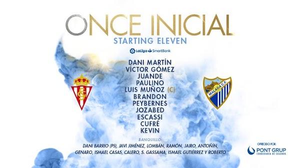 Sporting - Málaga, alineaciones oficiales