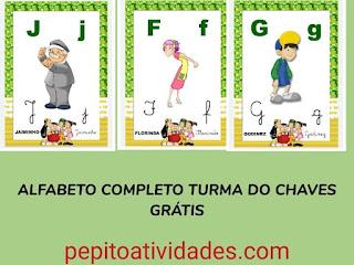 Alfabeto turma  do Chaves para imprimir grátis