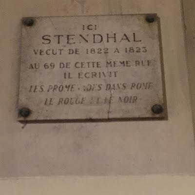 Targa Stendhal Rue de Richelieu