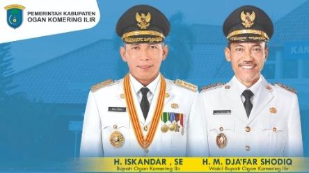 Iskandar dan M. Djakfar Shodiq (Bupati dan Wakil Bupati OKI Periode 2019 - 2024) Daftar Bupati dan Wakil Bupati OKI