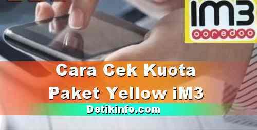 Cara Cek Kuota iM3 Yellow