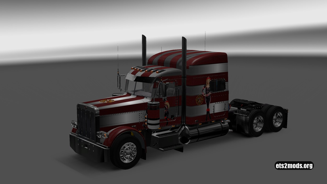 Fire Strip Skin for Peterbilt 389