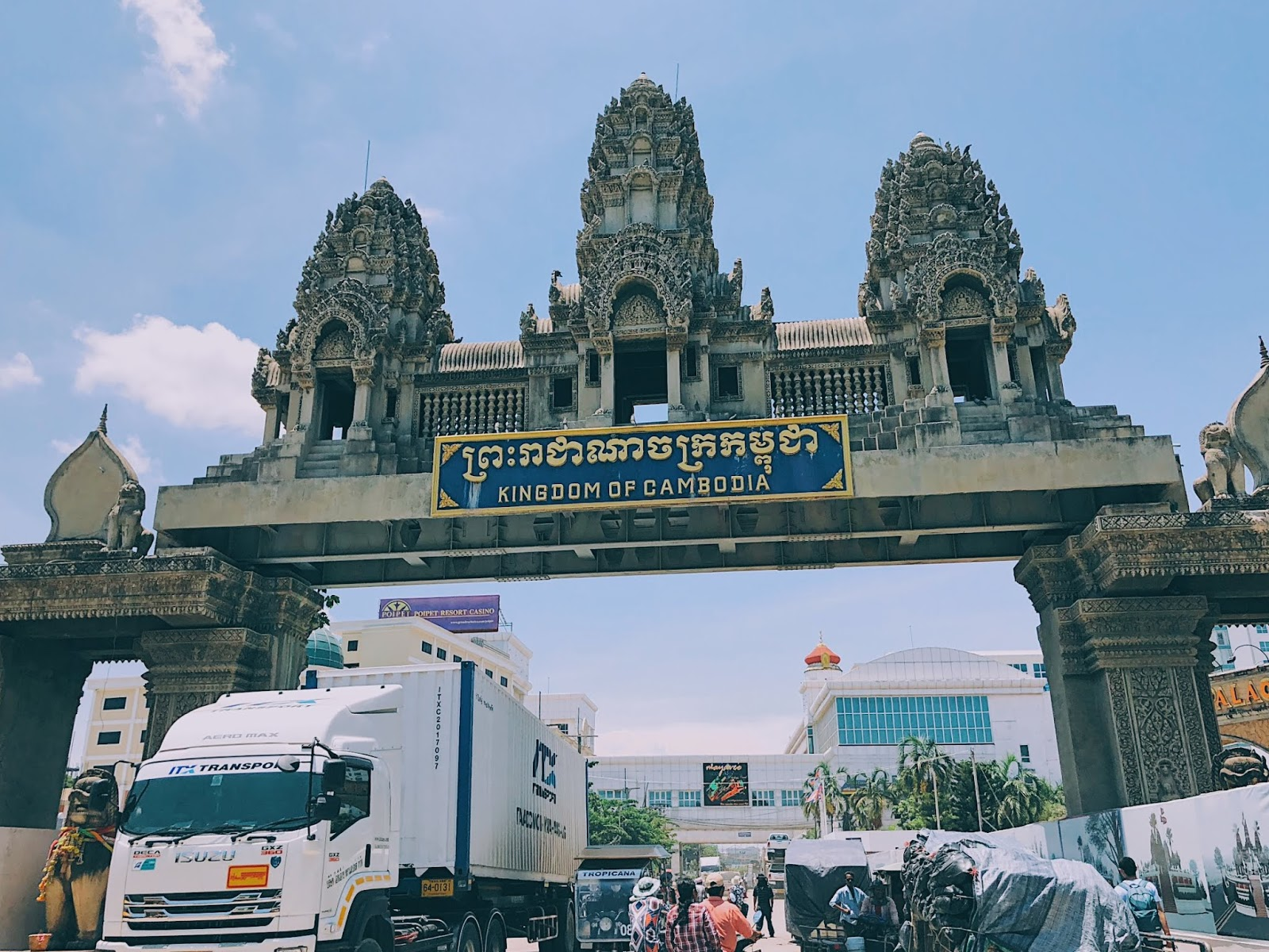 Cambodia's side of the border on Poipet
