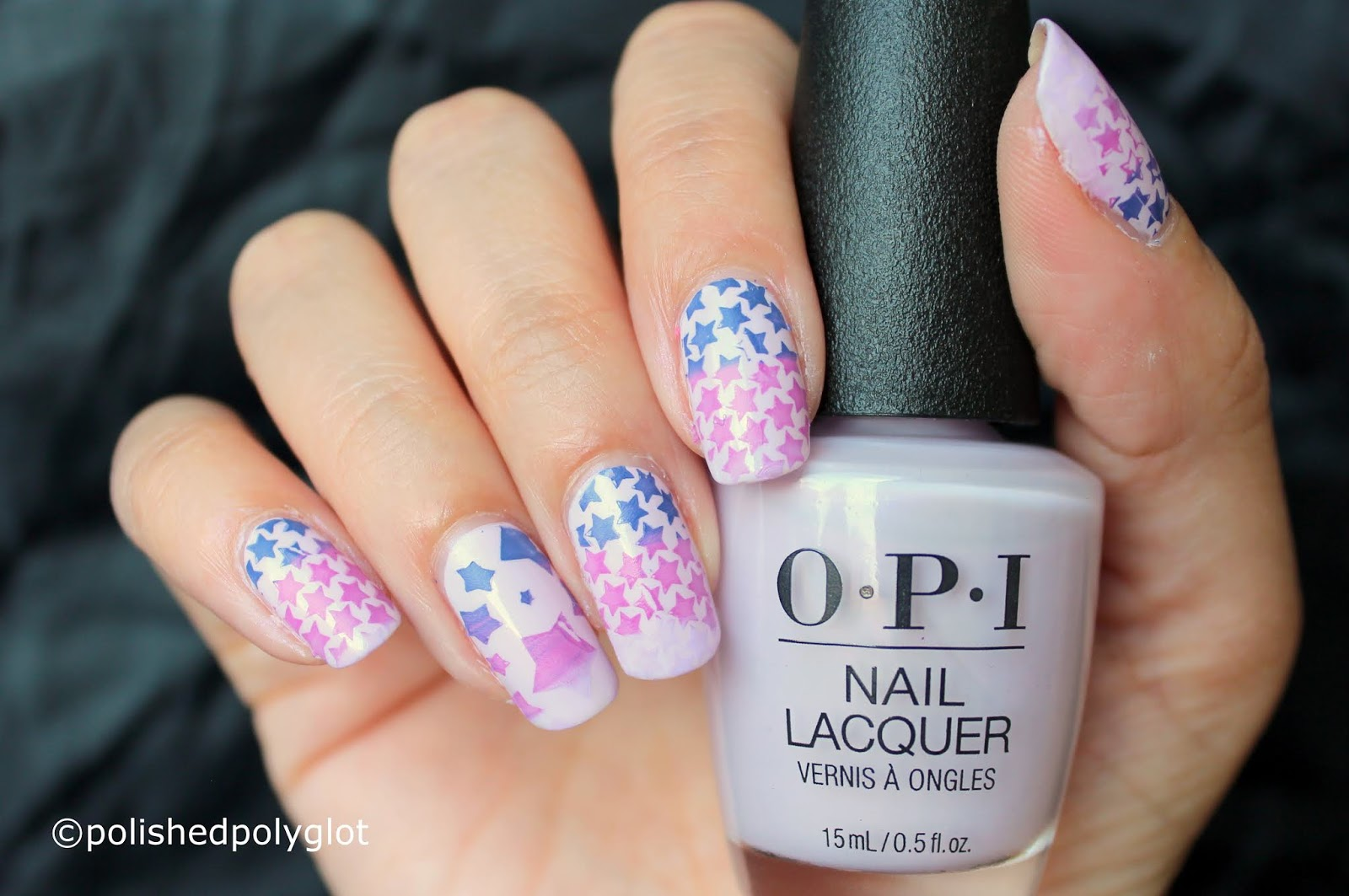 Nail Art │ Starry manicure in Lavender and Purple [26 Great Nail ...