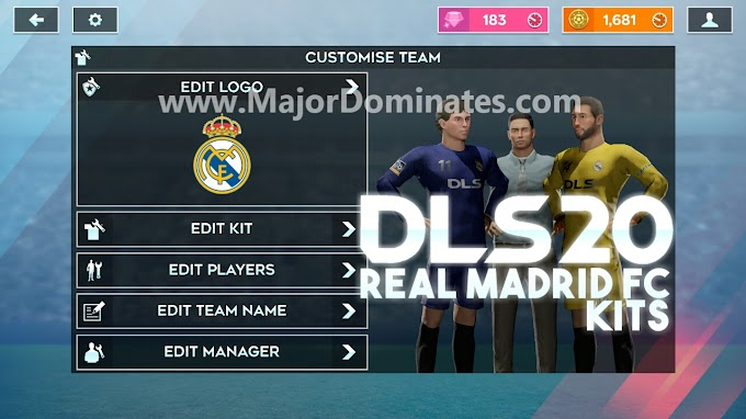 Real Madrid 2019-20 kit for DLS 20 -  Dream League Soccer 2020 Kits