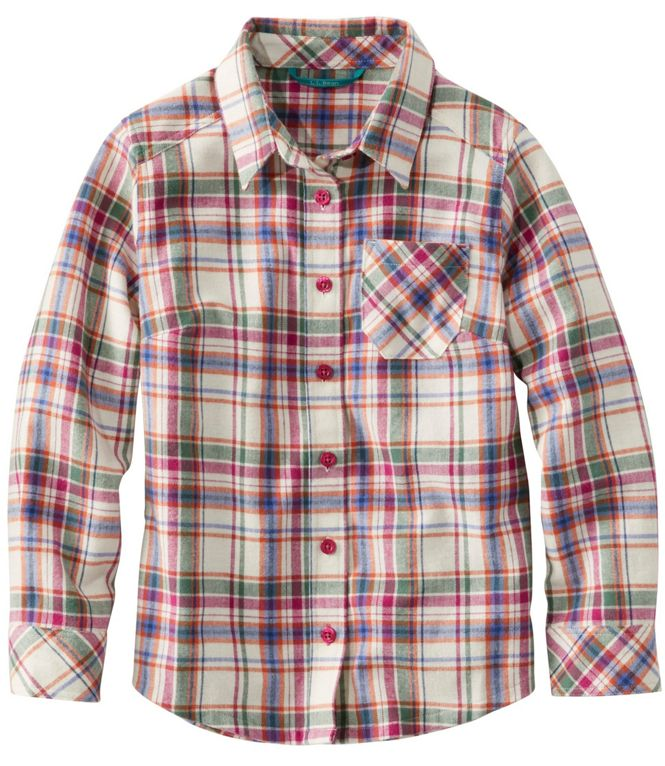 LL Bean Girl's Plaid Flannel