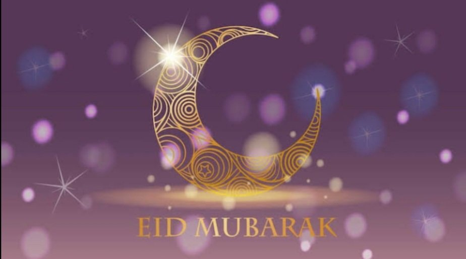 glittering eid card