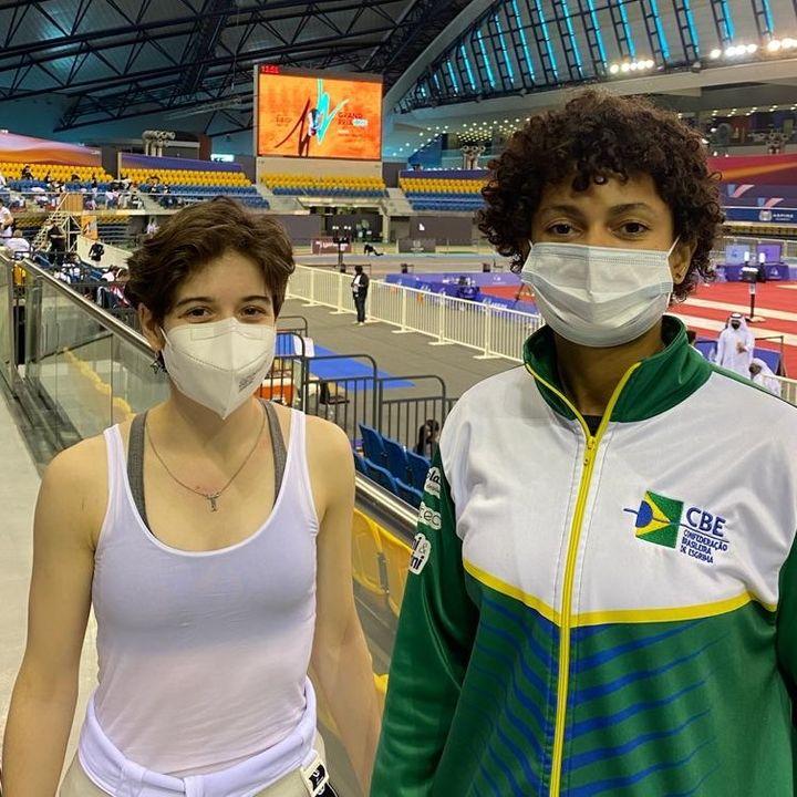 Bia Bulcão Rafaella Gomes esgrima brasileira