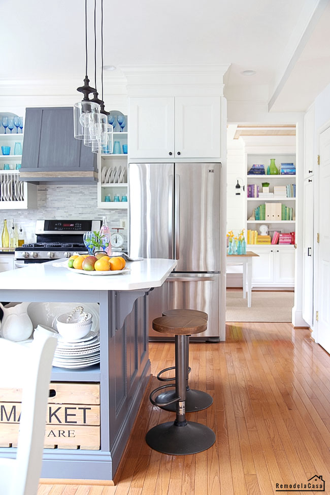 kitchen and home office for summer