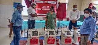 सिवील अस्पताल सेंटर सेंधवा मे सेंव द चिल्ड्रन संस्था ने भेट किये 4 ऑक्सीजन कंसनट्रेटर