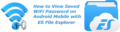 View/See/Find/Recover/Retrieve Saved WiFi Password on Android Mobile with ES File Explorer http://nkworld4u.blogspot.in/ http://nkworld4u.blogspot.com/