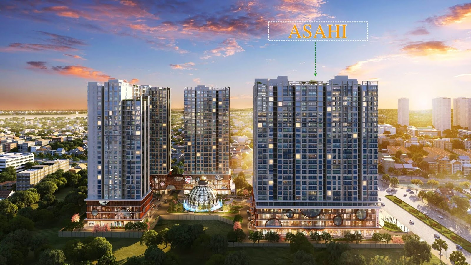 Ra mắt toà Asahi thuộc tổng thể dự án Hinode City