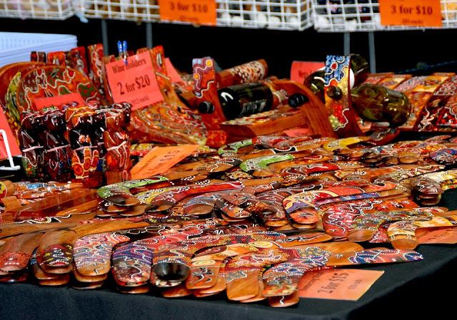 Productos en exposición en el mercado Victoria en Melbourne, Australia.